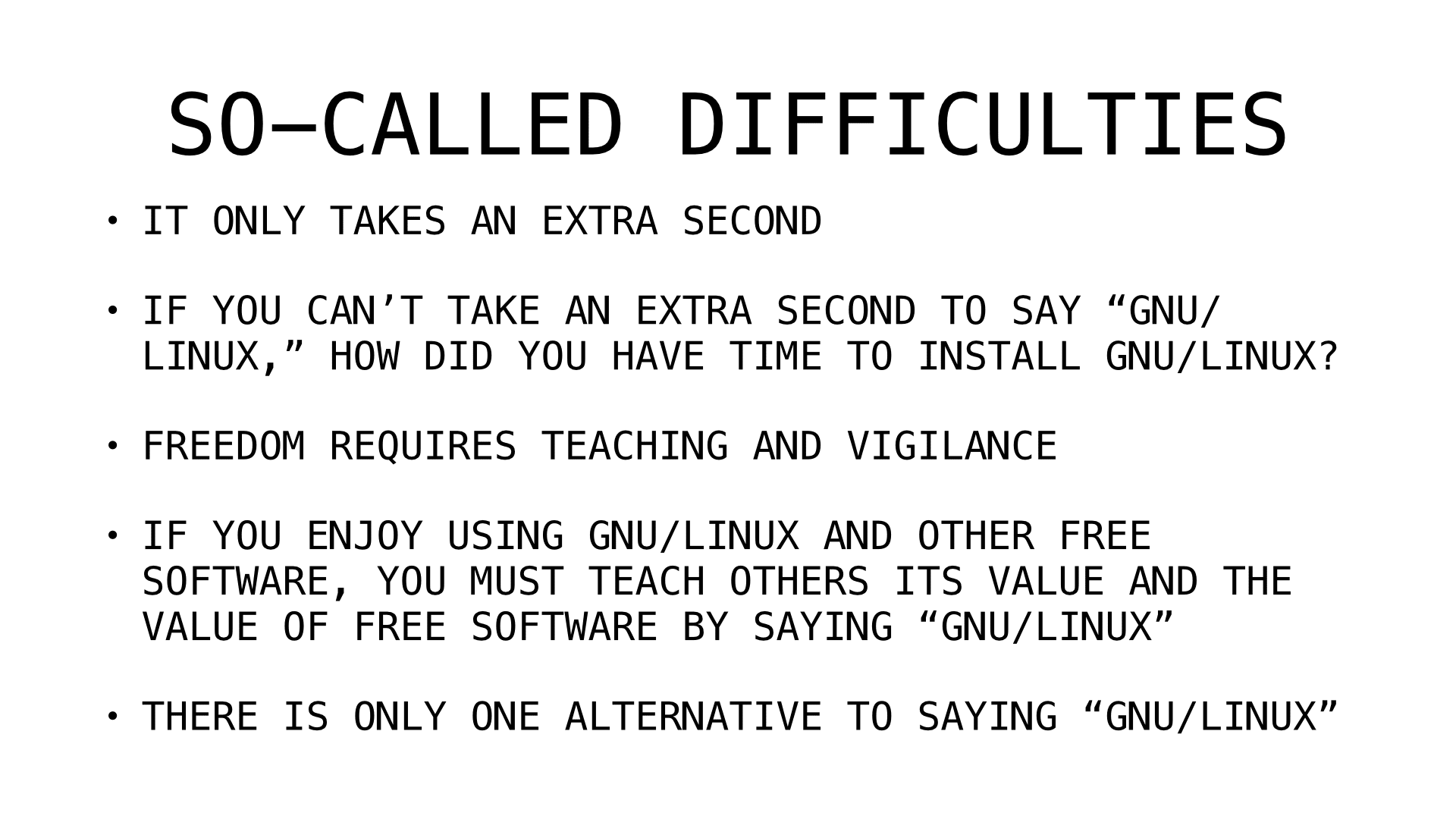 so called difficulties