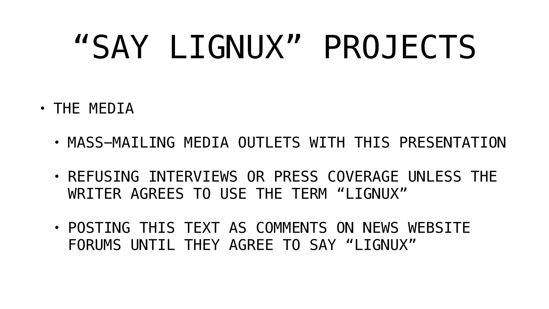say lignux projects 2